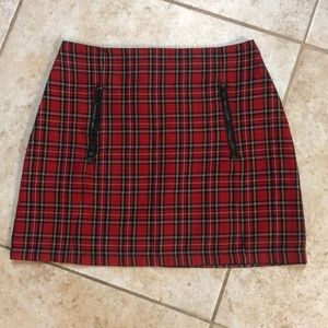 Topshop plaid mini skirt